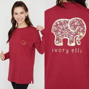 Ivory Ella | Rumba Red | Blooming Mandala Ella Tee